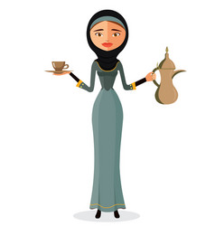 arab girl cartoon vector image