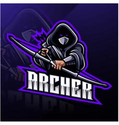 Archer sport mascot logo design vector