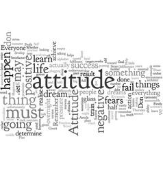Attitude vector