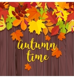 Autumn background Frame for text decorated with vector image
