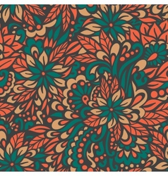 Autumn flowers Seamless decorative pattern vector image