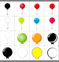 balloon icon design on white background vector image