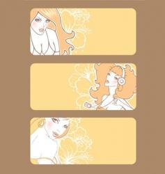 banners women's vector image