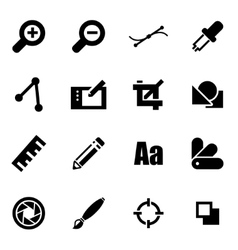 black graphic design icon set vector image