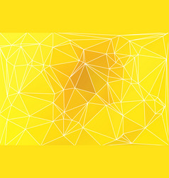 Bright golden yellow geometric background with vector