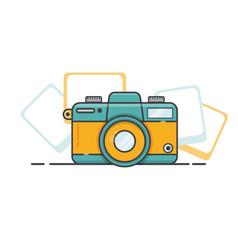 Camera flat design vector