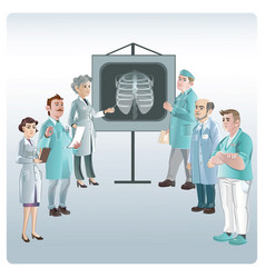 Cartoon medicine lecture concept vector