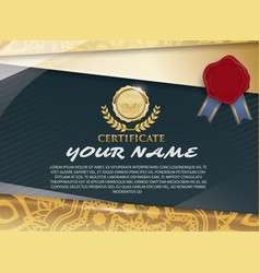 Certificate template with luxury patterndiploma vector