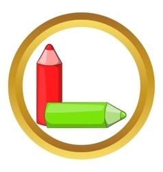 Color pencils icon vector image