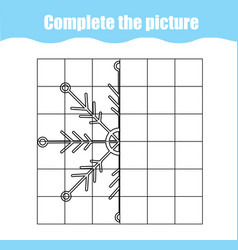 Complete the picture children educational game vector