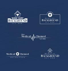 corporate medical header template set vector image