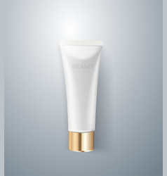 Cosmetic packaging design white cream tube vector