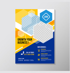 creative business brochure designs template with vector image