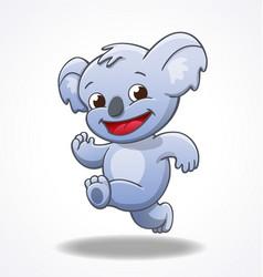 cute smiling happy koala running vector image