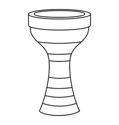 Darbuka musical instrument icon outline style vector