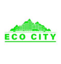 eco city skyline vector image