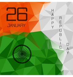 Elegant indian flag theme background of happy vector