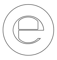 Estimated sign e mark symbol e icon black color vector
