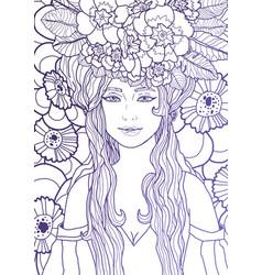 Fairy with long hair vector