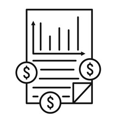 finance graph icon outline style vector image