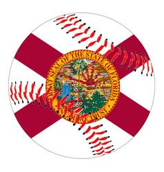 Florida flag baseball vector