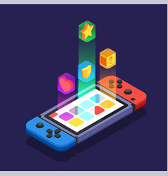 Gaming development design concept vector