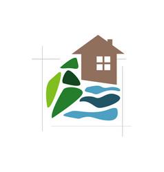 gardening expert landscaping logo design lawn vector image