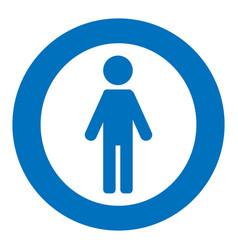 Gender icon symbol male boy man icon blue vector