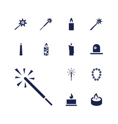 Glowing icons vector