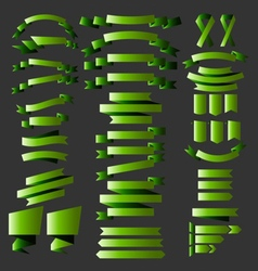 green ribbons st patrick vector image