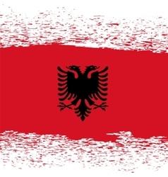 Grunge Albanian Flag vector