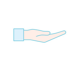 hand gesture with fingers icon design vector image