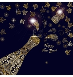 Happy new year 2017 greeting template card or vector image