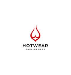 hot underwear logo design template vector image