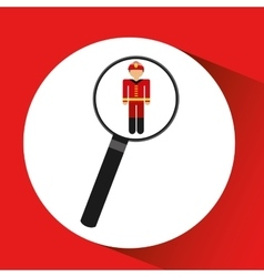 Human resources searching firefighter graphic vector