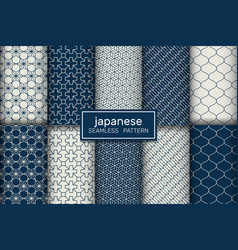 Japanese traditional seamless blue pattern vector