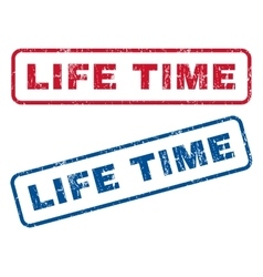 Life time rubber stamps vector