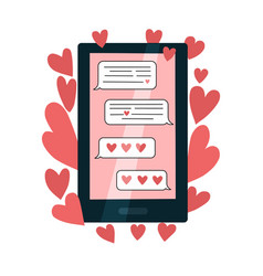 love correspondence online in your phone vector image