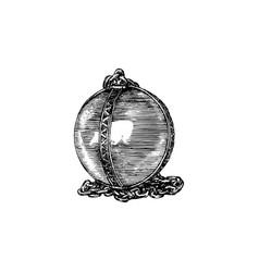 Magical crystal sphere vector