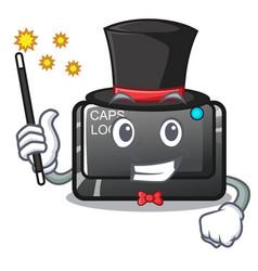 Magician capslock button isolated with cartoon vector
