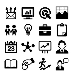 Marketing SEO and Development icons set vector