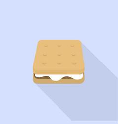 Marshmallow sandwich icon flat style vector