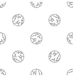mercury planet pattern seamless vector image