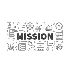 Mission horizontal in outline vector