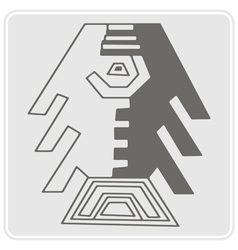 Monochrome icon with Peruvian Indians art vector