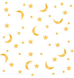 moon star background vector image