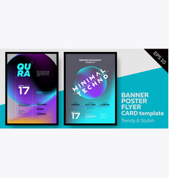 Music covers for summer electronic fest or party vector