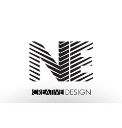 Ne n e lines letter design with creative elegant vector