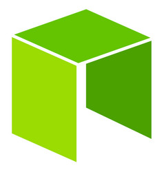 Neo currency flat icon vector