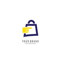 online store symbol logo vector image